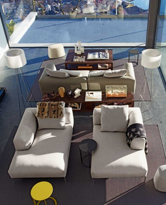 Pairing furniture pieces and accessories provides easy impact
