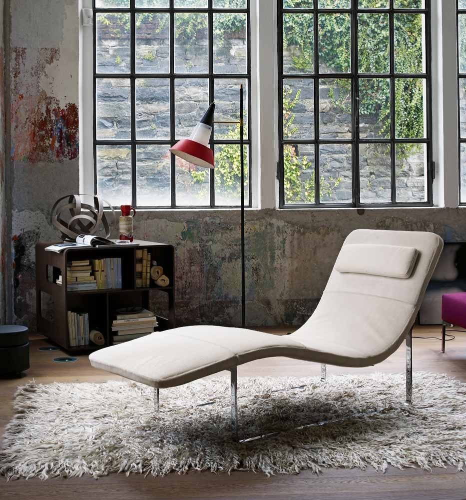 Cream Chaise Lounge Interior Design Ideas