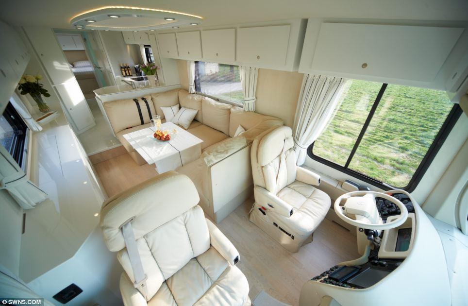 1 2 million luxury caravan by volkner mobil. Black Bedroom Furniture Sets. Home Design Ideas