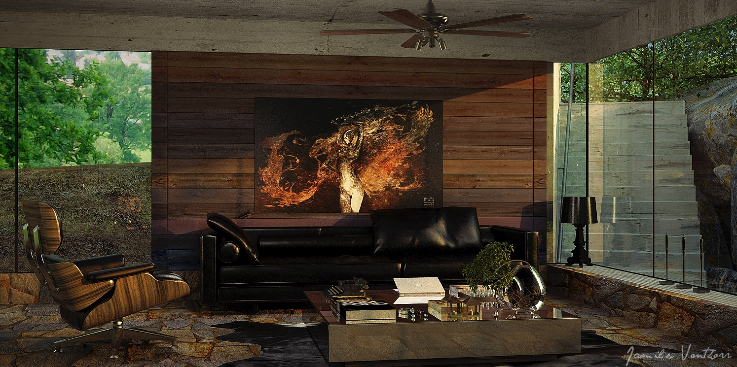 Wooden Wall Designs Living Room   Living Room