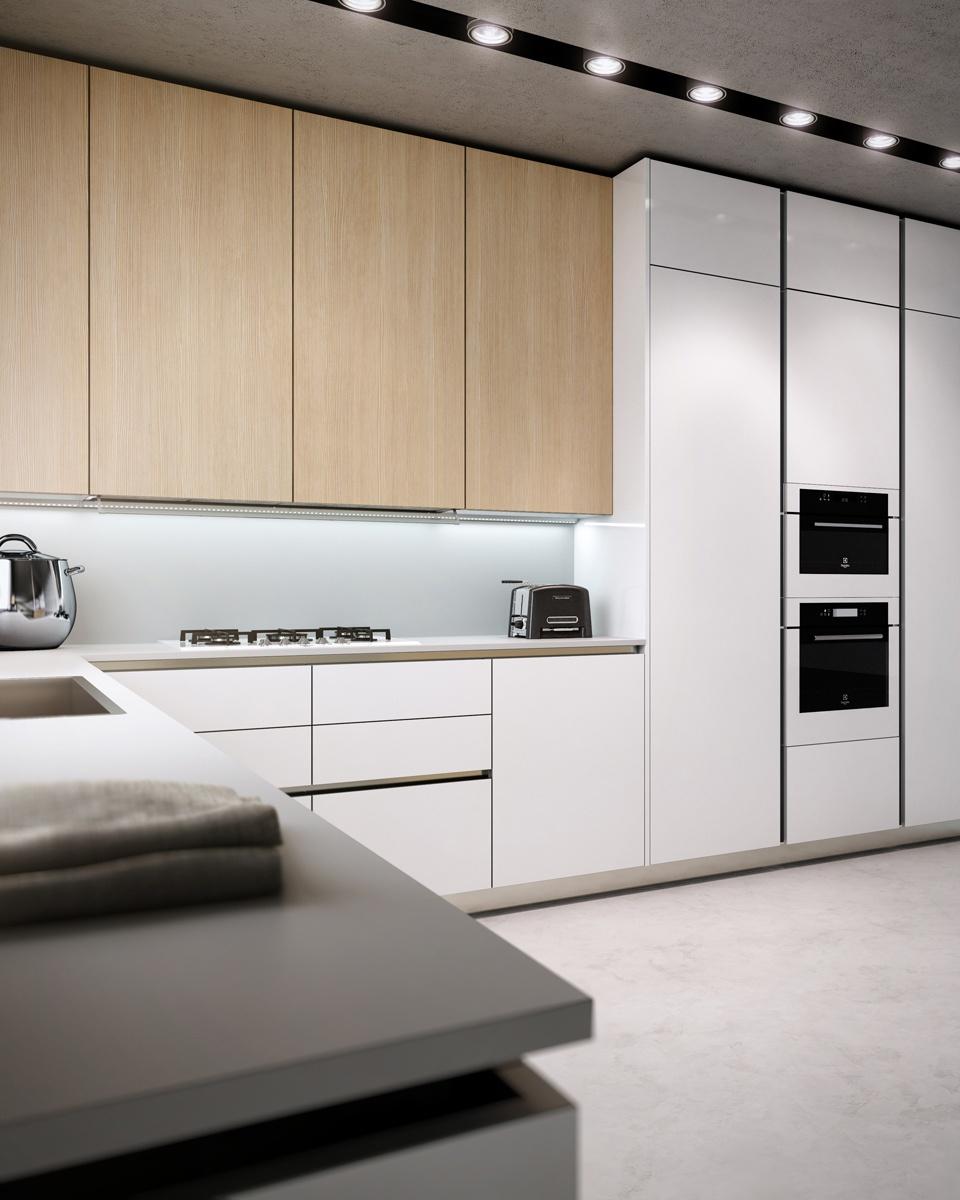Modern White Pine Kitchen Interior Design Ideas