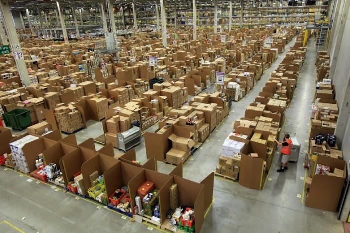amazon warehouse interiors