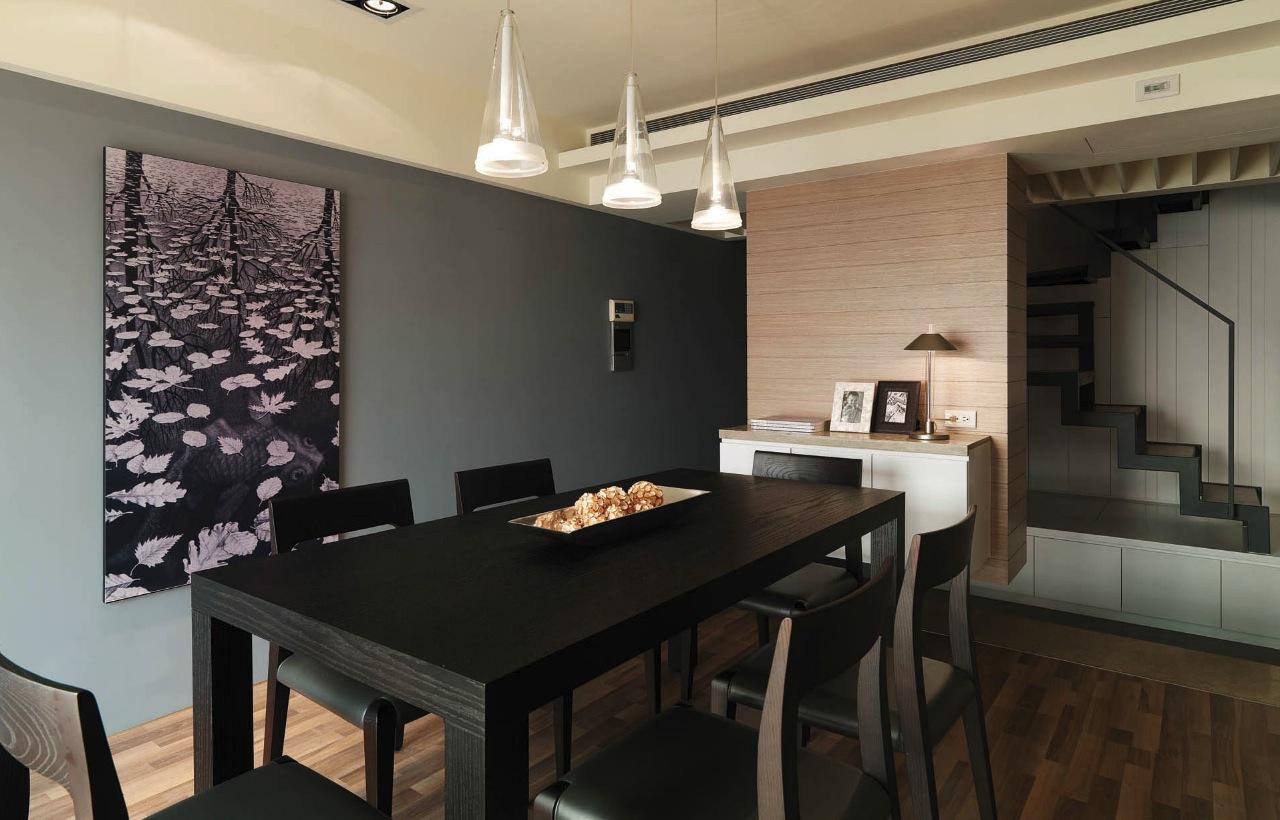 Modern semi minimilist design - Dining room interior design ...
