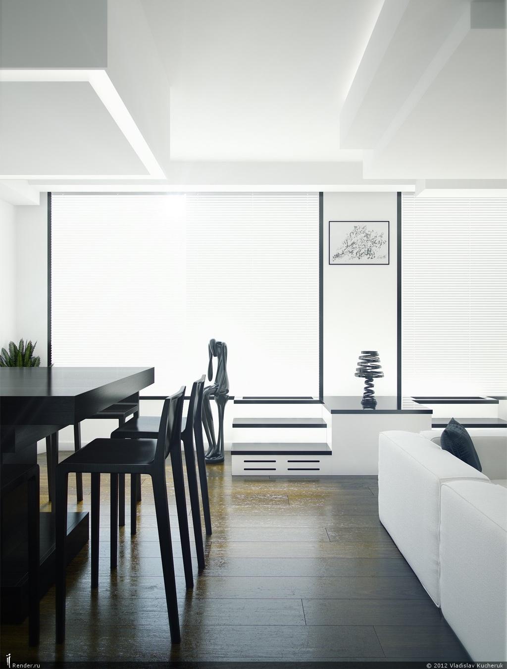 Elegant black and white modern decor