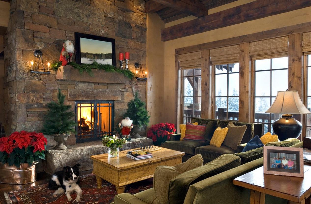 Lodge Christmas Mantel Decorinterior Design Ideas