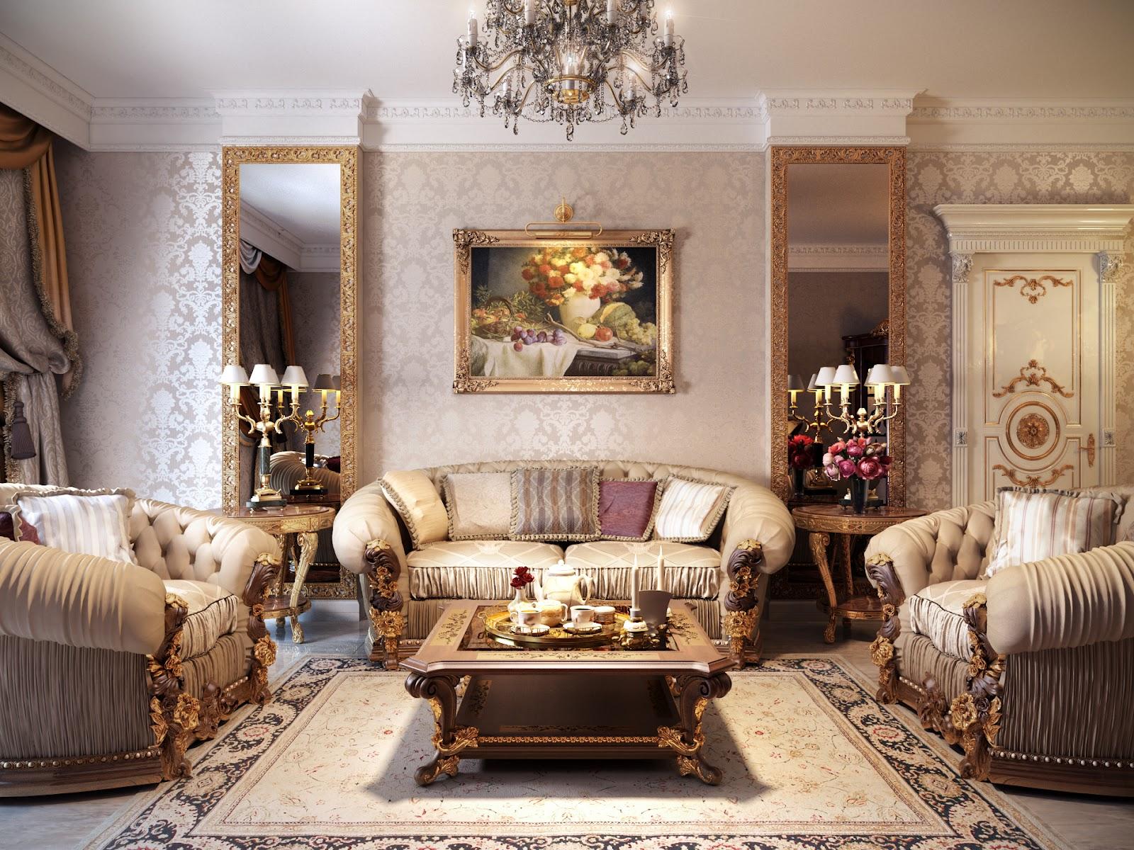 Luxurious Formal Living Room Interior