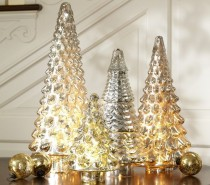 metallic christmas decor