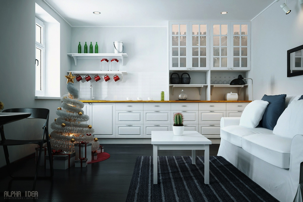 minimalist christmas decor | Interior Design Ideas.