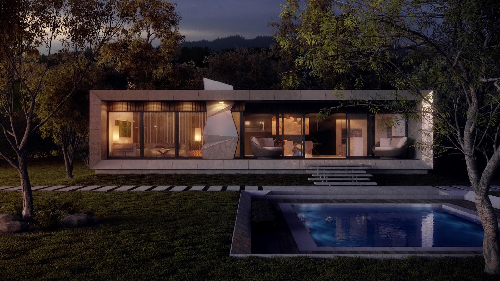 Modern Concrete Home Interior Design