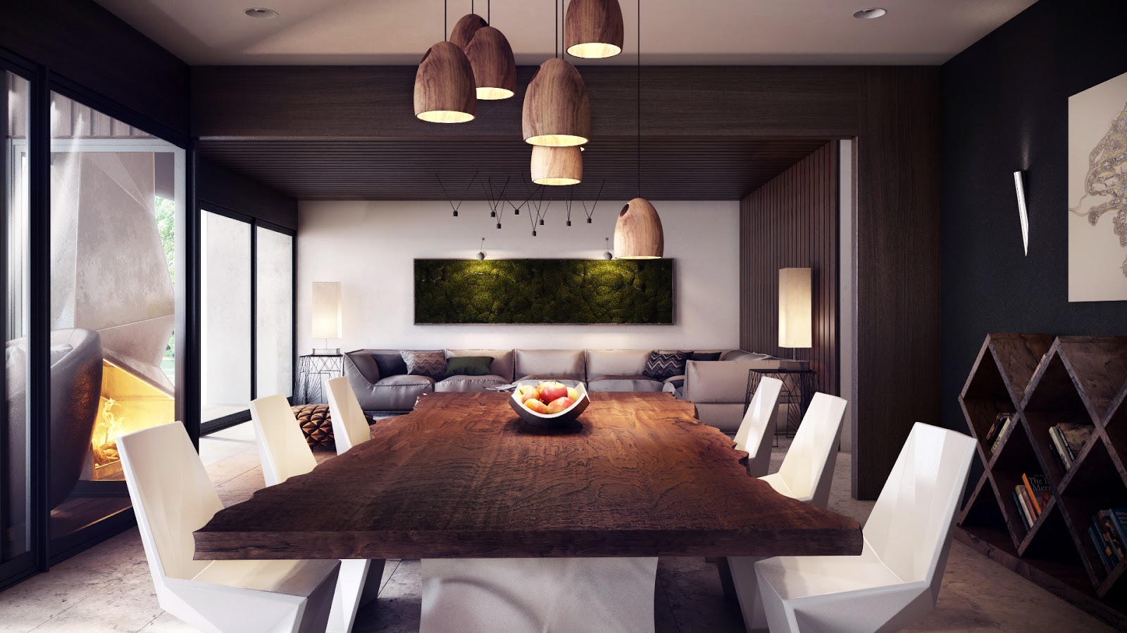 modern open living space Interior Design Ideas. - ^