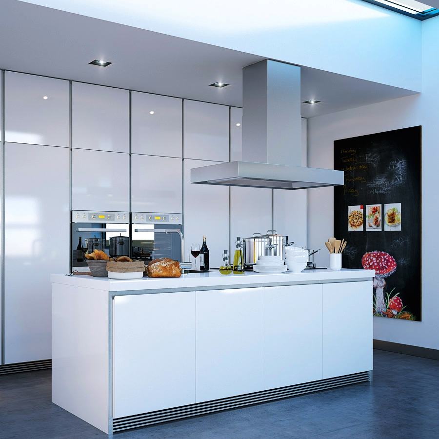 contemporary white kitchen islands