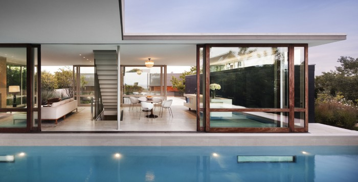 Innovative landscape design for country and city dwellings - Interior glass wall designs for houses ...