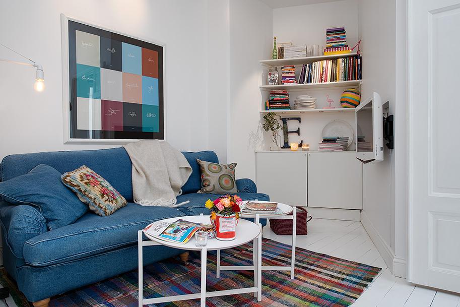 blue jean sofa | Interior Design Ideas.