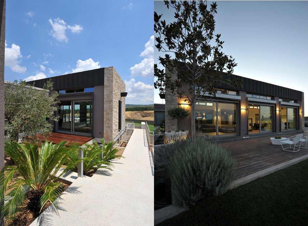 Exterior Modern Stone House Interior Design Ideas