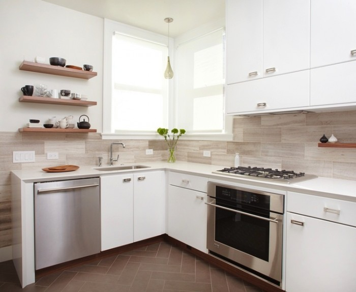 White Kitchen Backsplash Ideas E