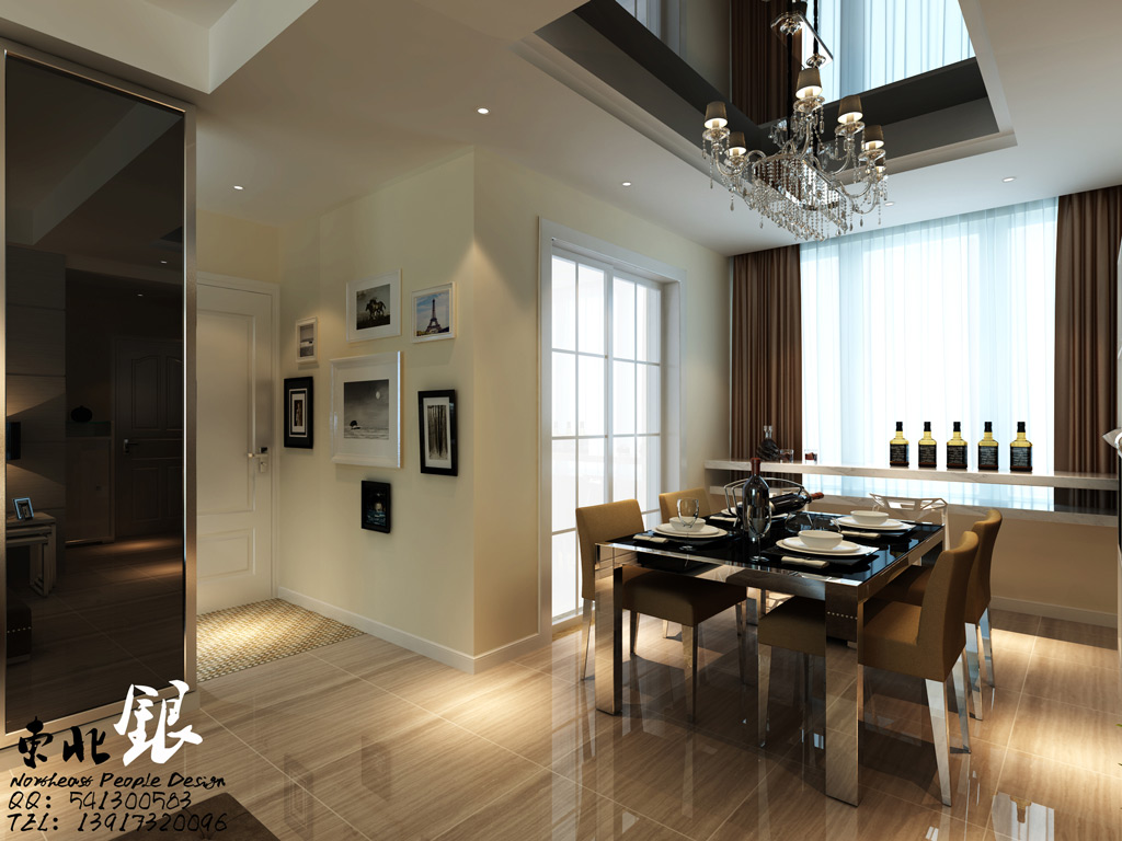 Dining Room Double Height Ceiling Interior Design Ideas