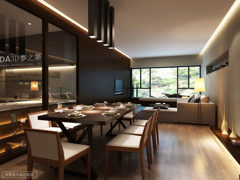 Modern Living Dining Interior Design Ideas