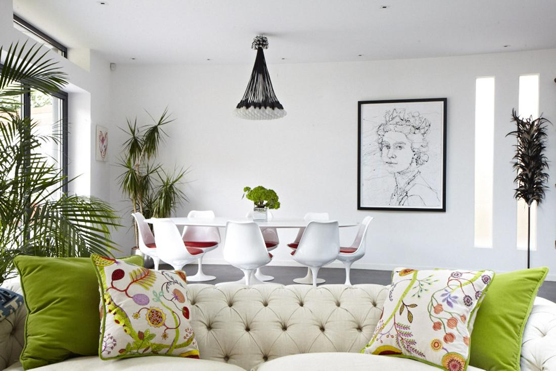 Modern victorian home goes eclectic - Modern victorian living room ...
