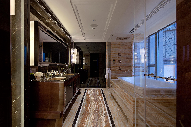 Sedimentary Marble Earthy Bathroom With Tun Steve Leung