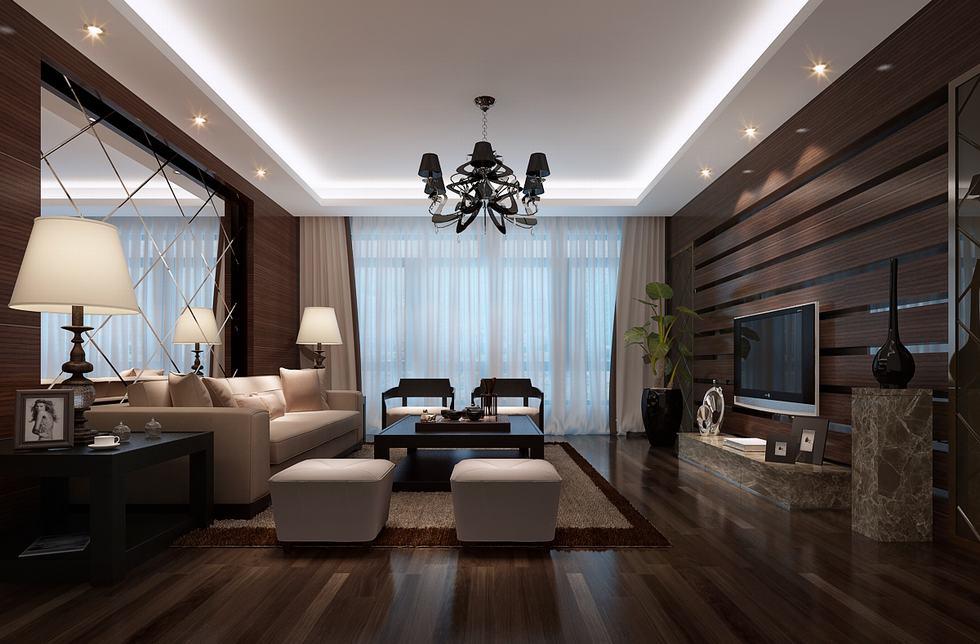 Segmented Mirrored Luxury Living Chinainterior Design Ideas