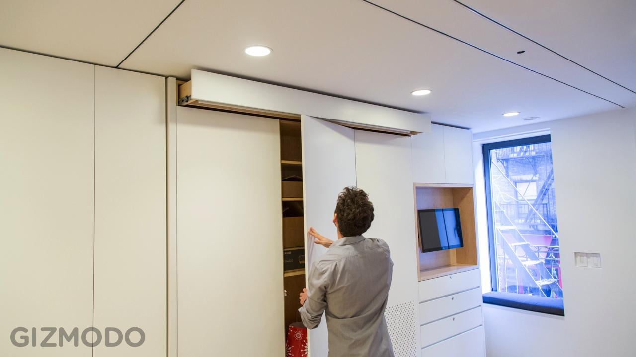 Small Home Design Ideas Photos: Tiny Transforming Apartment In New York