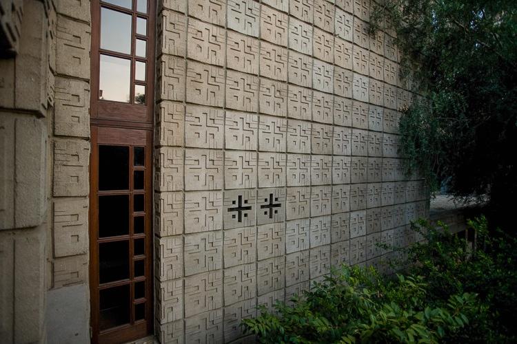 Frank Lloyd Wright Millard House Concrete Block Eterior