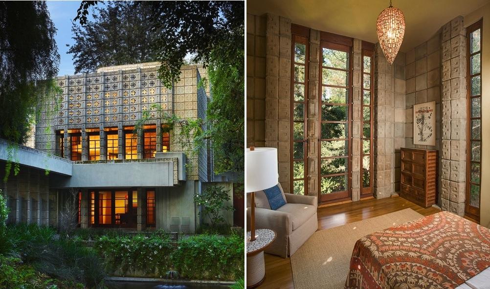 Frank lloyd wright millard house master bedroom interior - Lloyds architecture planning interiors ...