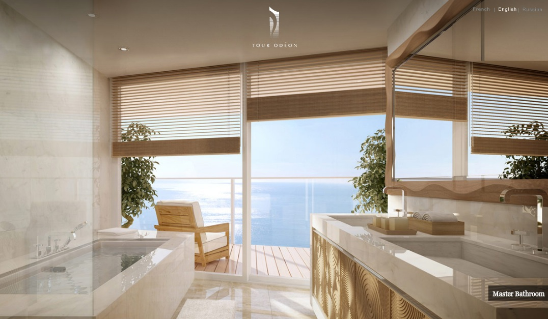 Monaco Penthouse Master Bathroom With Deck Access And