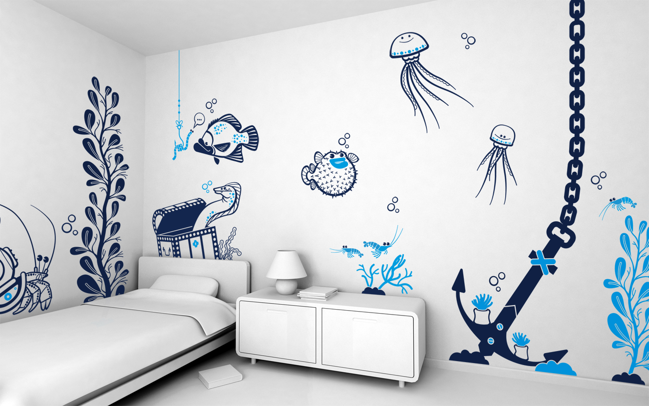 Boys 39 room designs ideas inspiration - Wall painting ideas for bedroom ...