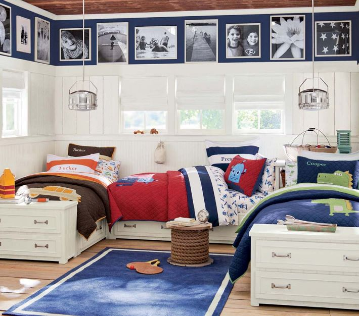 Modern Asian Luxury Interior Design: Boys Room For Three Brothers Layout Beds