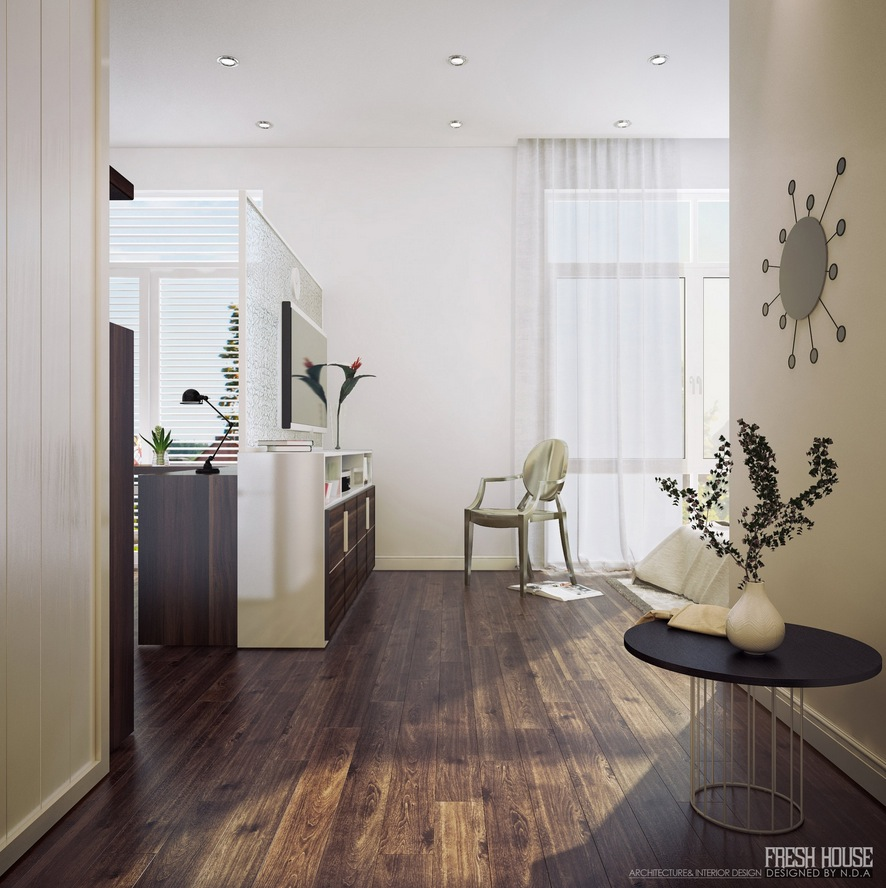 Bedroom Office: Chic Contemporary Spaces Rendered By Anh Nguyen