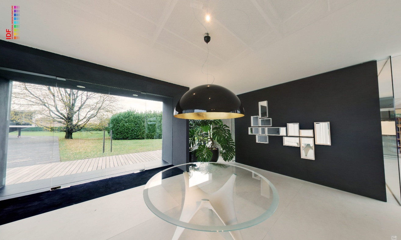 Glossy Black Opaque Pendant Lit Foyer With Glass