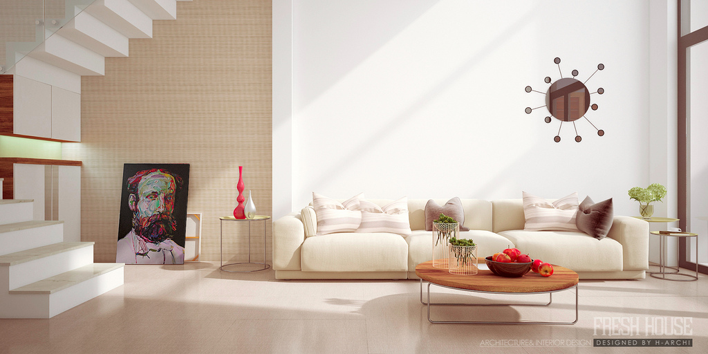Chic contemporary spaces rendered by anh nguyen