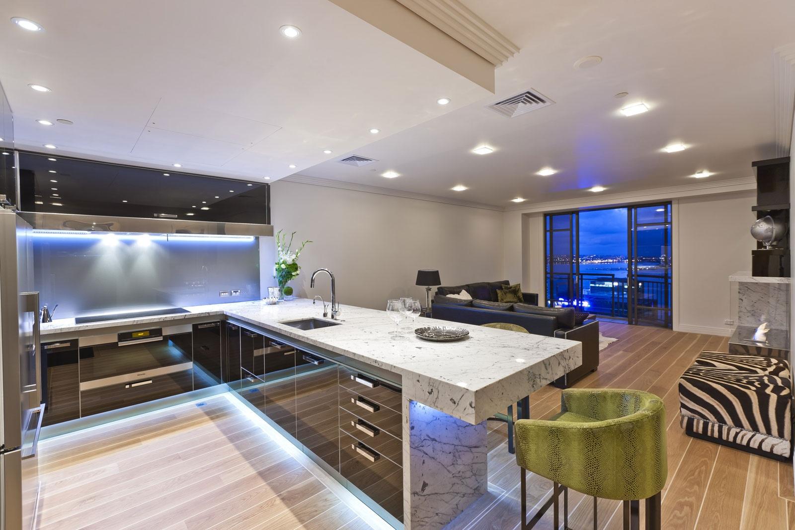 Moderne Kuchenarbeitsplatte Interieur Stil