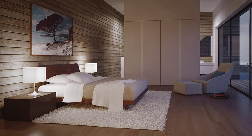 Modern Bedroom With Sleek Cabinetry Interior Design Ideas