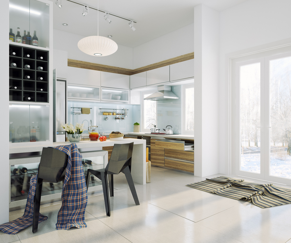Modern White Kitchen Pics: Chic Contemporary Spaces Rendered By Anh Nguyen