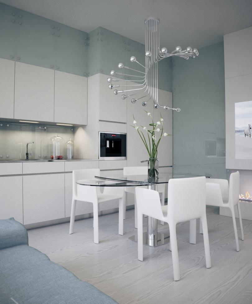 Alexander Lysak Visualization Open Plan Kitchen Dining With Modern
