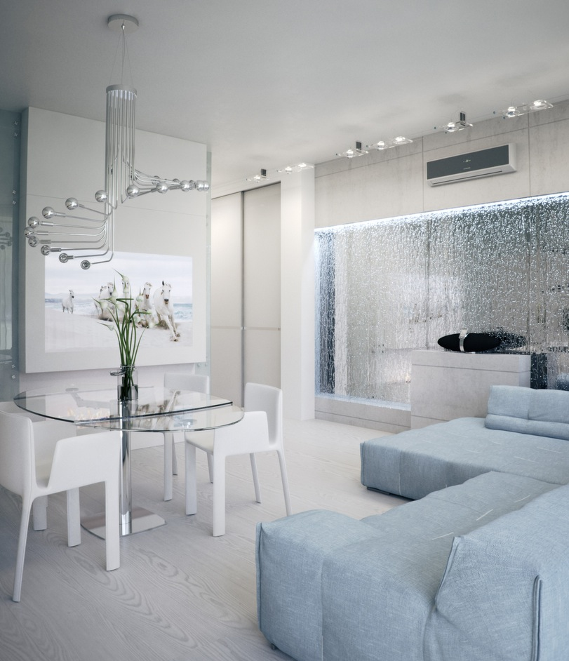 Apartment With Soft Hues That Inspire Futuristic Tranquility