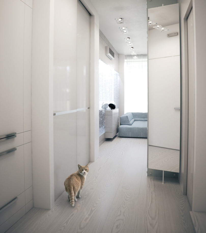Apartment Roommate: Apartment With Soft Hues That Inspire Futuristic Tranquility