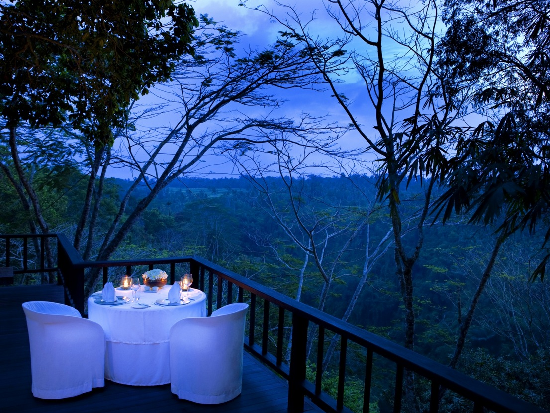 Como Shambhala Estate Bali Dinner On The Deck With Views