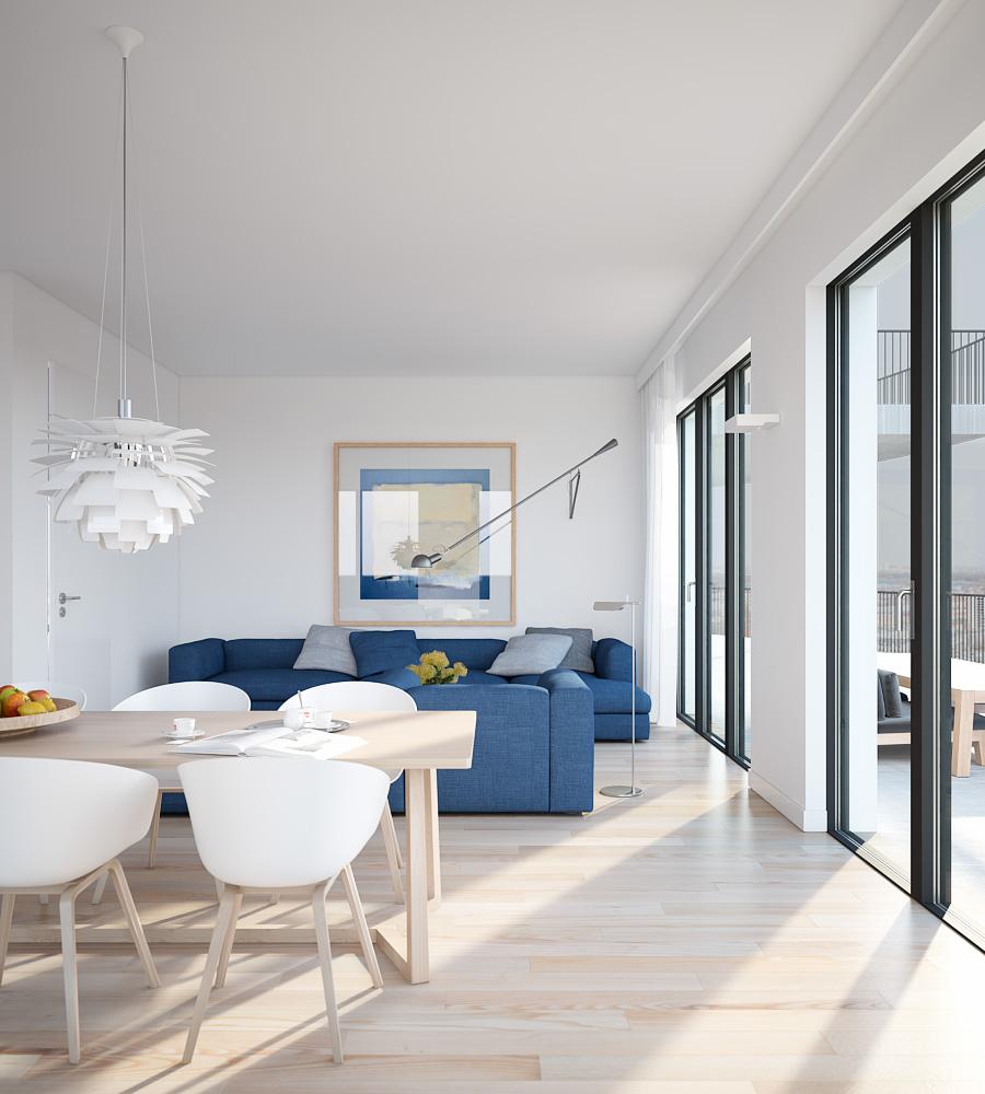 Small Apartment Opn Floor Plan Kitchen