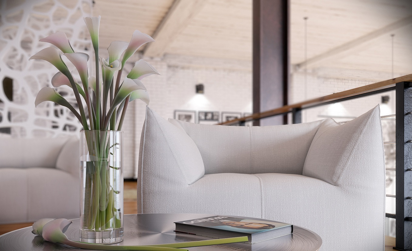 Rip3d Industrial Loft Sitting Area Styled With Calla