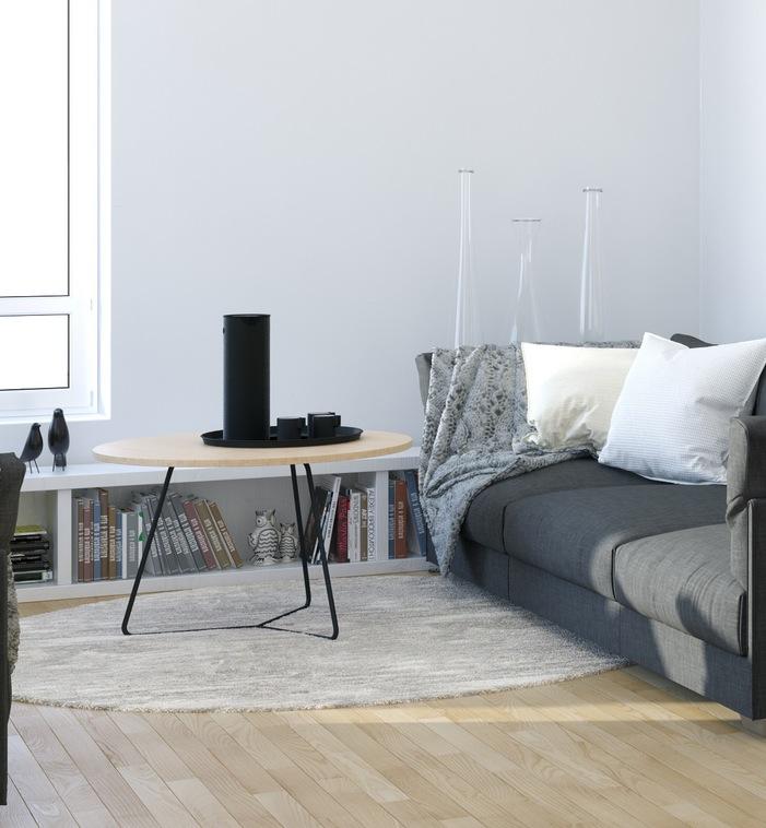 Studio Apartment: Scandinavian & Parisian Apartments In White