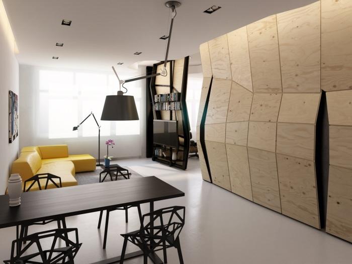 Unique Transformer Apartment Concept