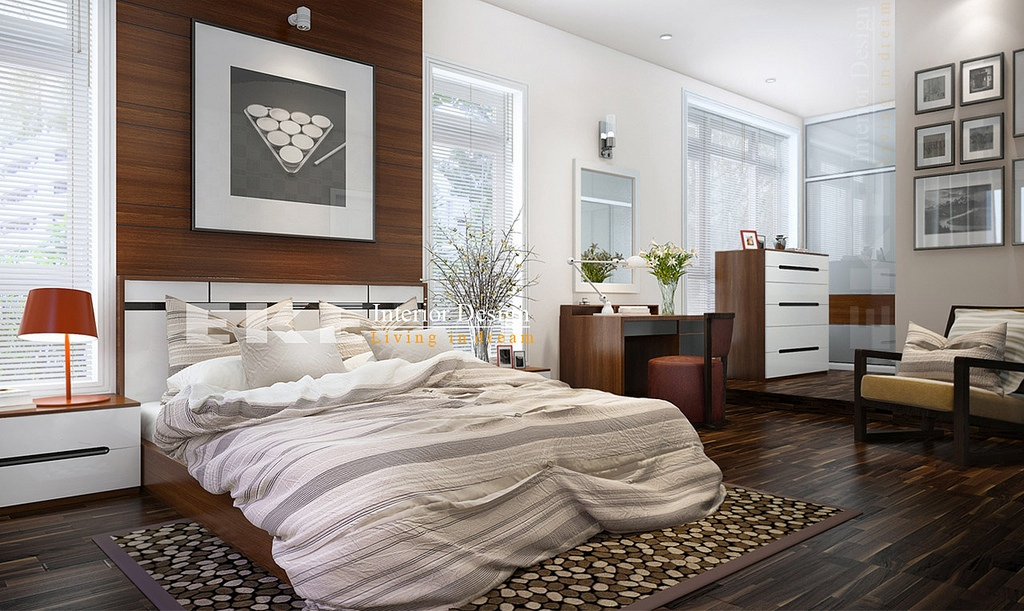 Tuananh Eke\'s modern masculine bedroom in taupe and ...