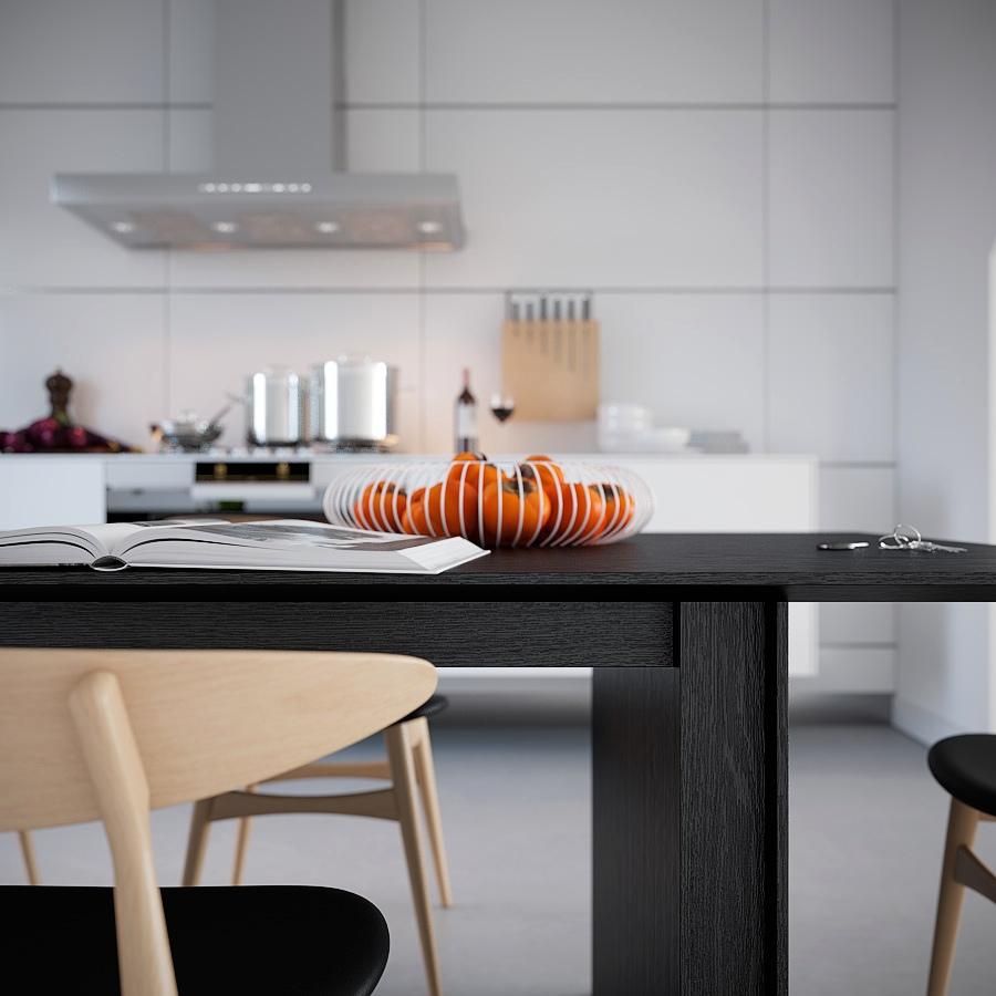 White Symmetrical Kitchen Wire Fruit Basket Oranges
