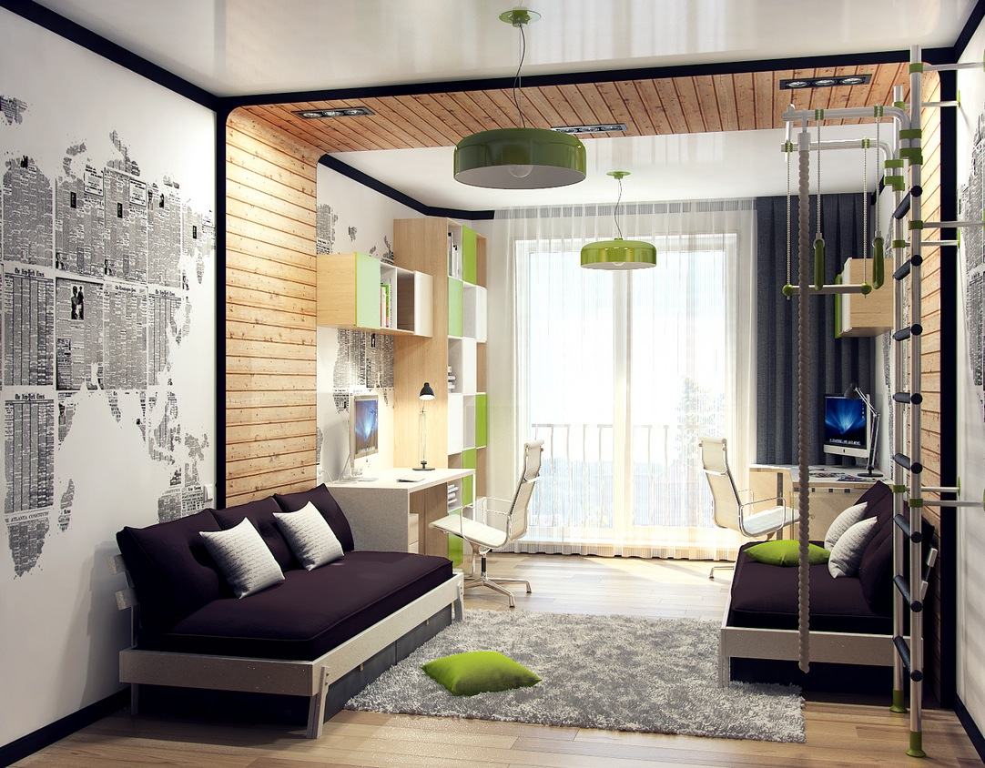 12 kids bedrooms with cool built ins. Black Bedroom Furniture Sets. Home Design Ideas