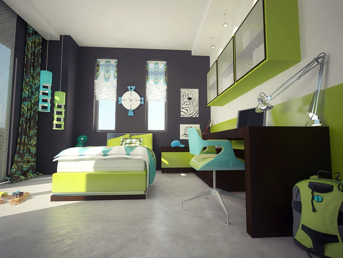 boys bedroom colour ideas.  12 Kids Bedrooms With Cool Built Ins