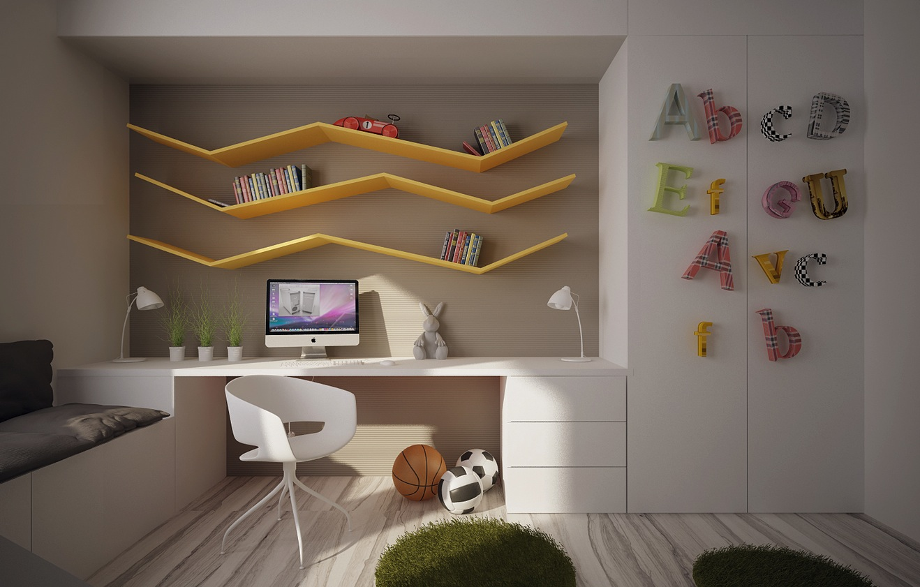 12 kids bedrooms with cool built ins - Bedroom wall shelves decorating ideas ...
