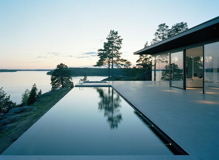 modern lake house by john robert nilsson. Black Bedroom Furniture Sets. Home Design Ideas